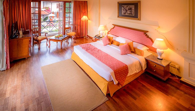 Aerial View of Deluxe Room in Mahaweli Reach Hotel Kandy