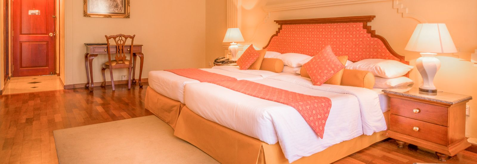 Angle View of the Deluxe Room at Mahaweli Reach Hotel