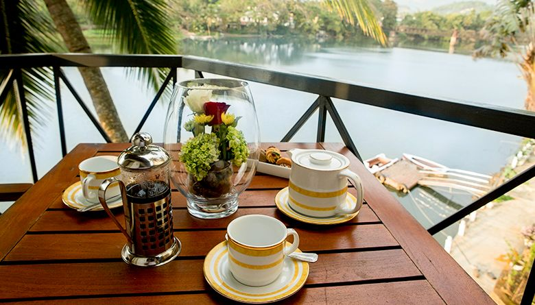 Evening Coffee from the Executive Suite in Mahaweli Reach Hotel