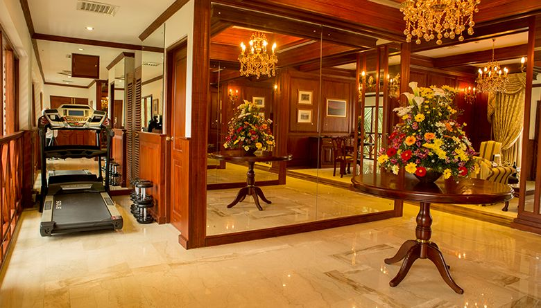 Private Gym Area in the Presidential Suite at Mahaweli Reach Hotel