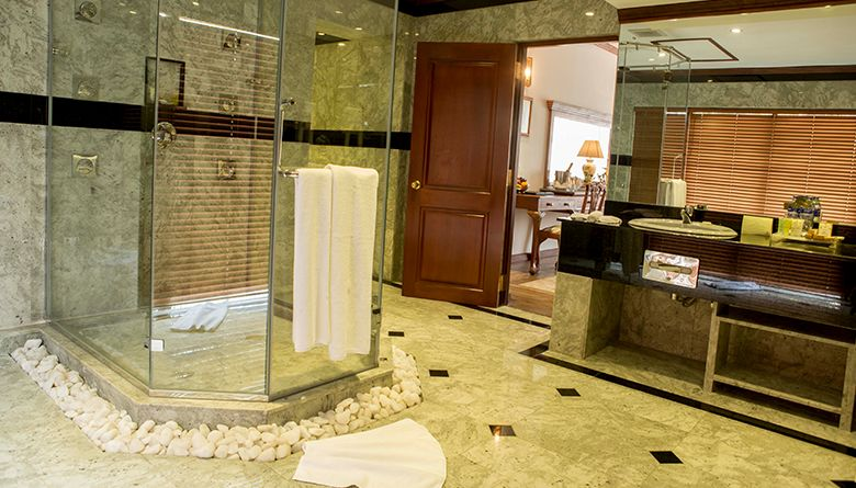 Bathroom Interior in the Presidential Suite at Mahaweli Reach Hotel
