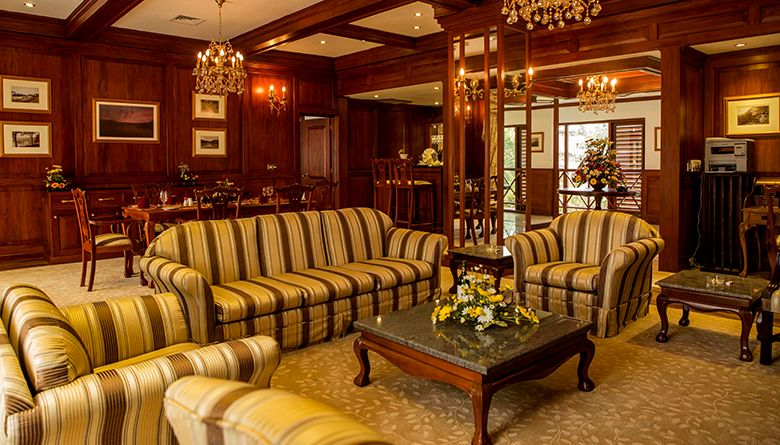 Living Room Area in the Presidential Suite in Mahaweli Reach Hotel