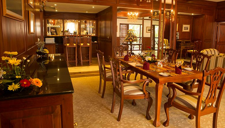 Dining Area at Presidential Suite in Mahaweli Reach Hotel