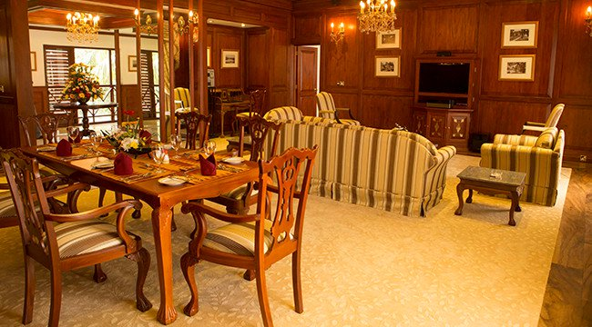 Dining Area in the Presidential Suite in Mahaweli Reach Hotel