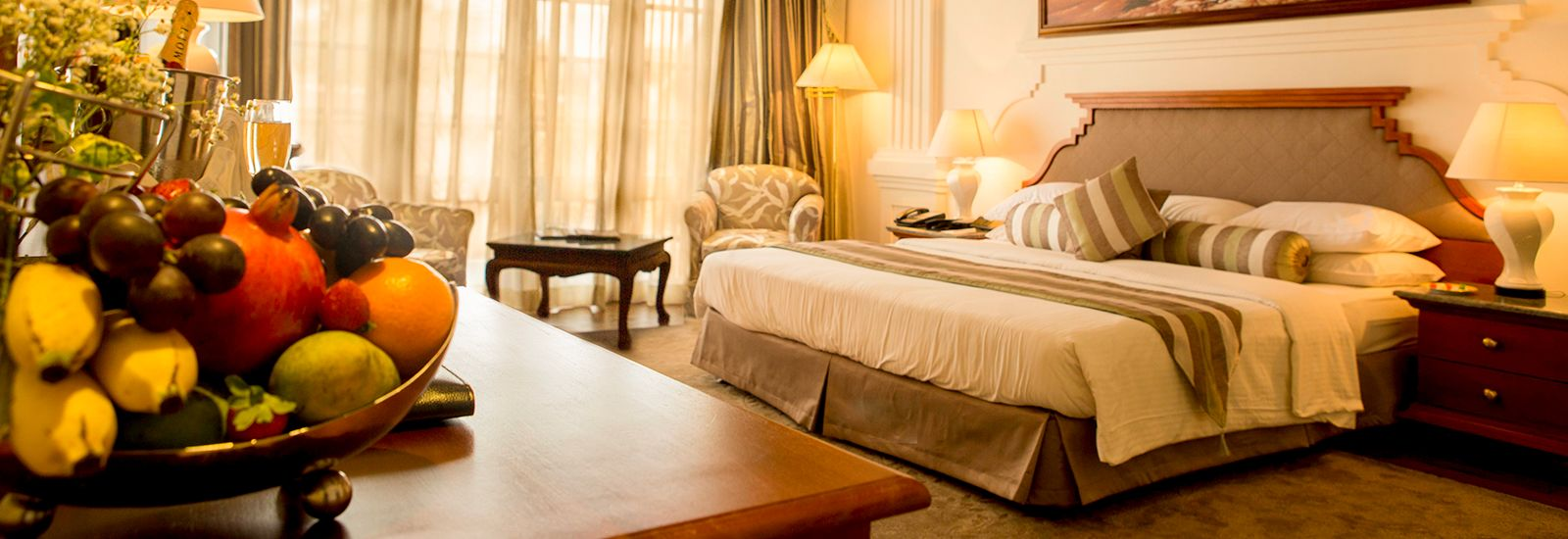 Angle View of the Presidential Suite in Mahaweli Reach Hotel