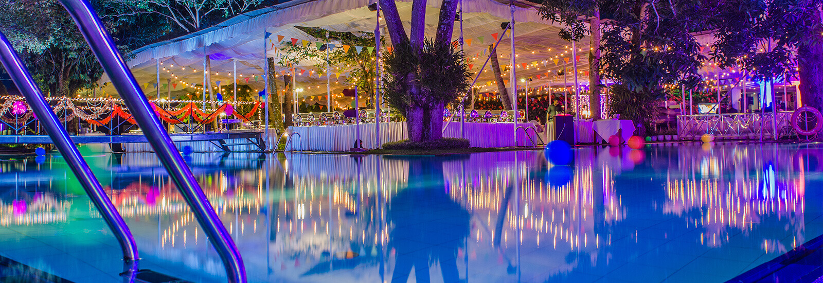 Night Events by the Pool at Mahaweli Reach Hotel