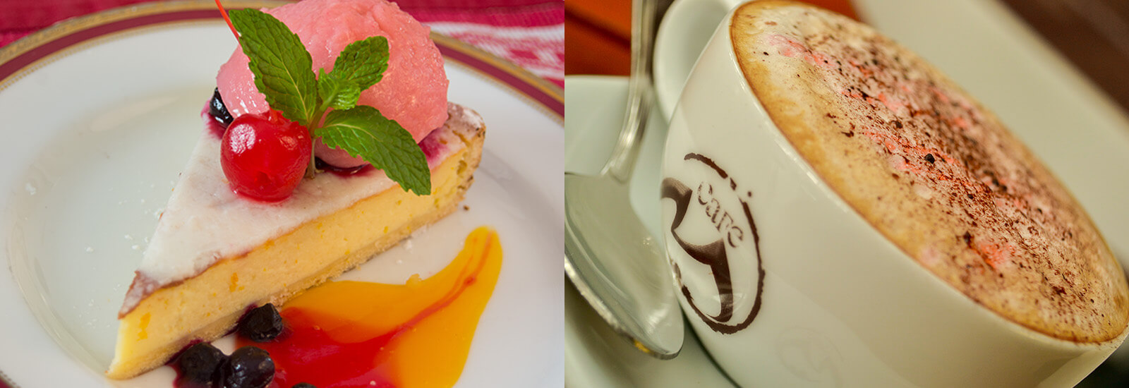 Coffee and Desserts at Cafe M in Mahaweli Reach Hotel Kandy