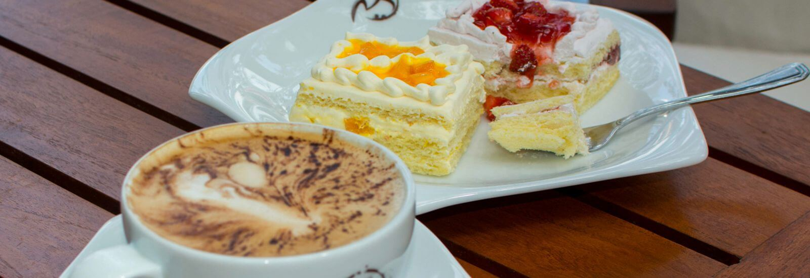 Desserts and Coffee at Cafe M in Mahaweli Reach Hotel