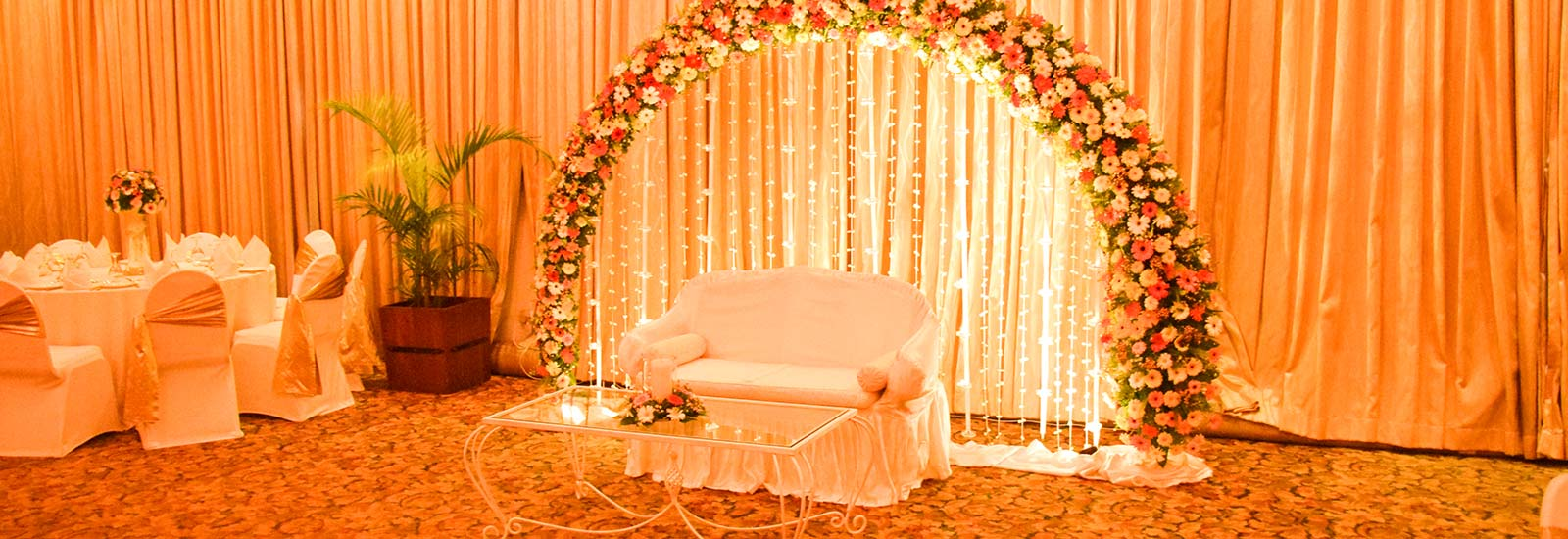 Floral Decorations at a Wedding in Mahaweli Reach Hotel