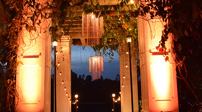 Night Event Decorations at Mahaweli Reach Hotel